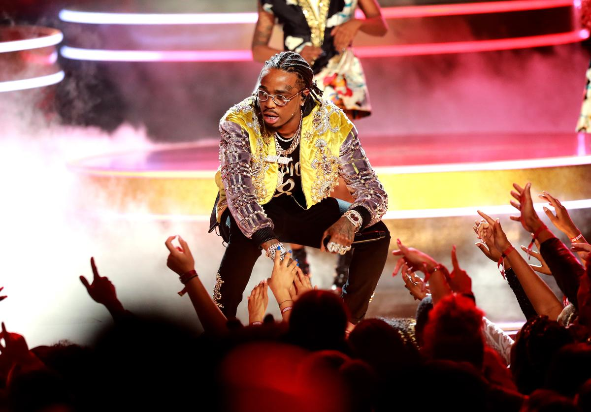 Quavo of Migos performs onstage at the 2018 BET Awards at Microsoft Theater on June 24, 2018 in Los Angeles, California. (