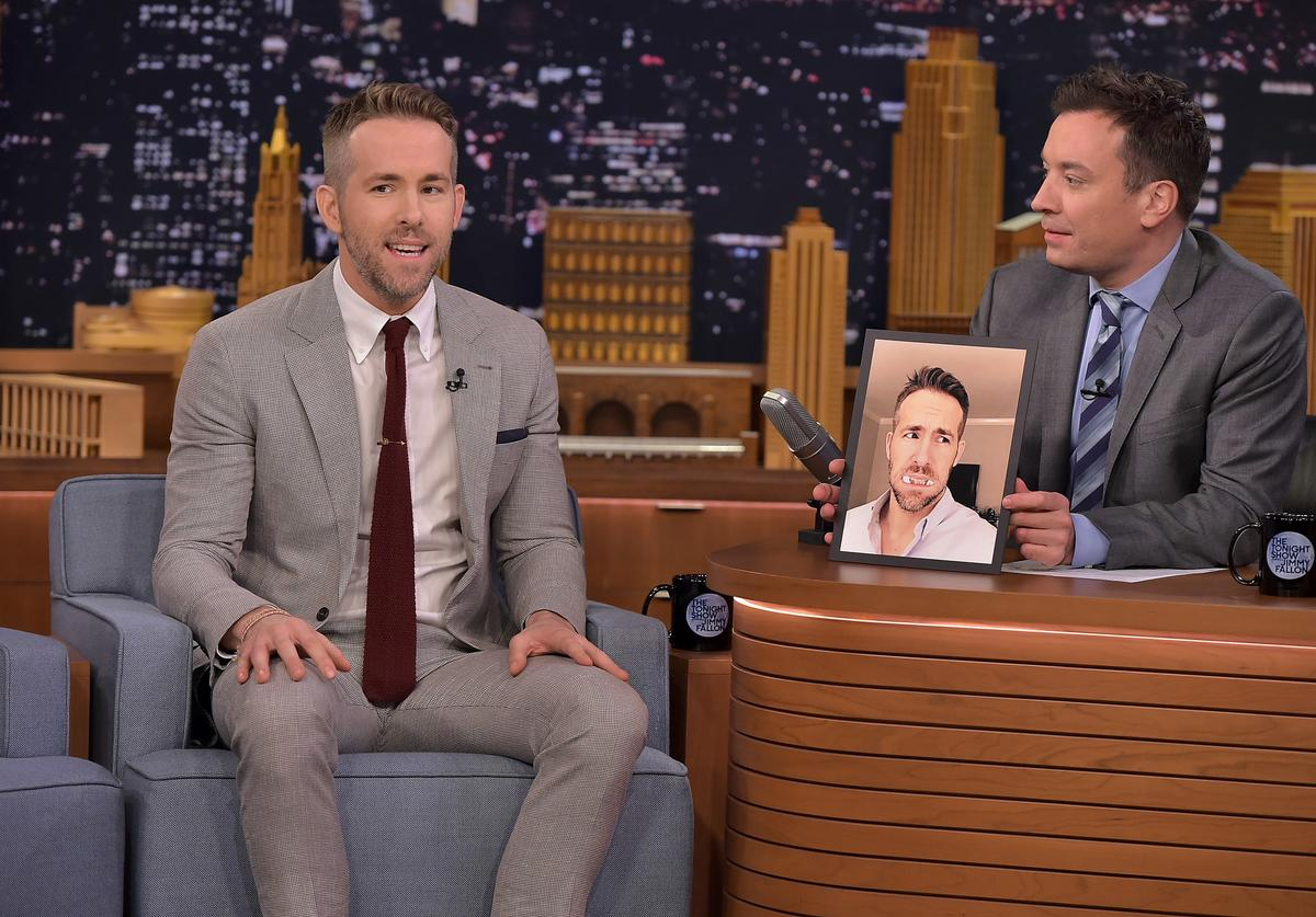 Ryan Reynolds Visits 'The Tonight Show Starring Jimmy Fallon' at NBC Studios on February 9, 2016 in New York City.