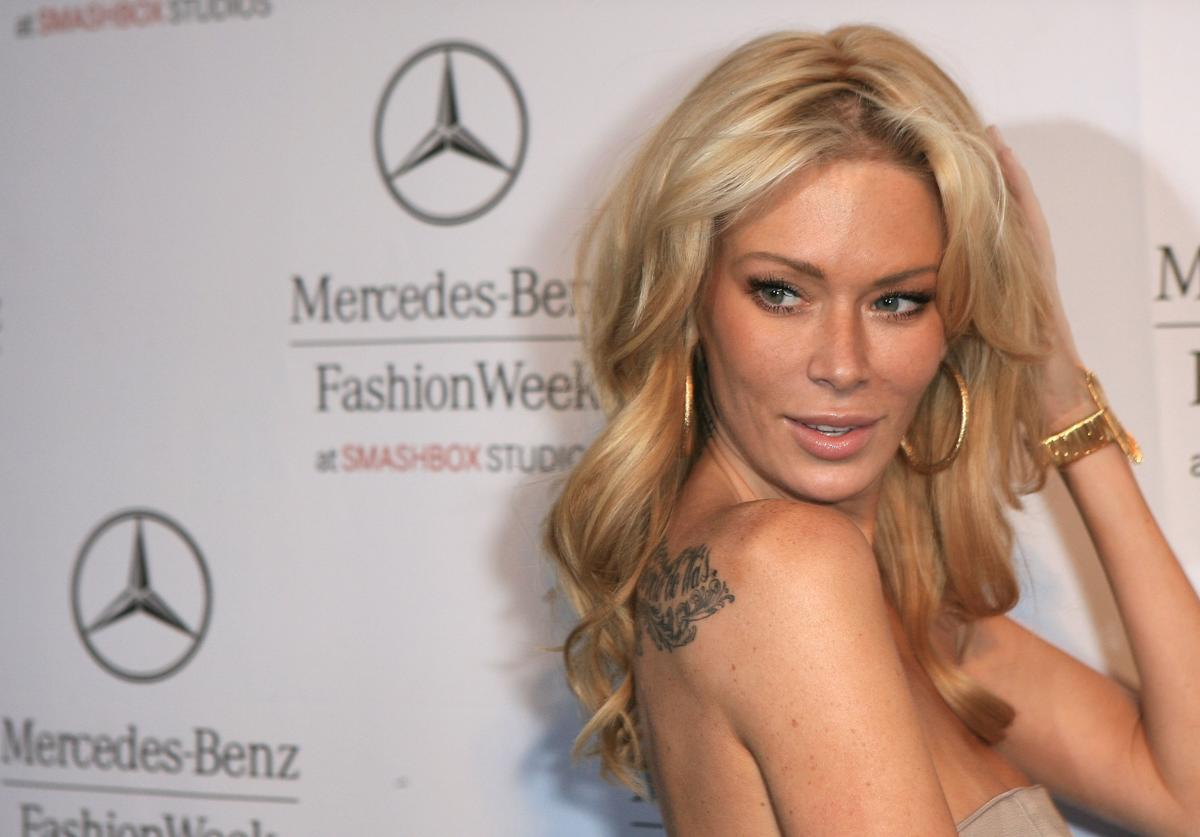 Adult film star Jenna Jameson attends Mercedes-Benz Fashion Week held at Smashbox Studios on March 13, 2008 in Culver City, California.