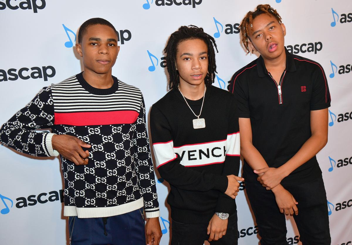 YBN Almighty Jay, YBN Nahmir and YBN Cordae attend the 31st Annual Rhythm and Soul Music Awards - Arrivals at the Beverly Wilshire Four Seasons Hotel on June 21, 2018 in Beverly Hills, California