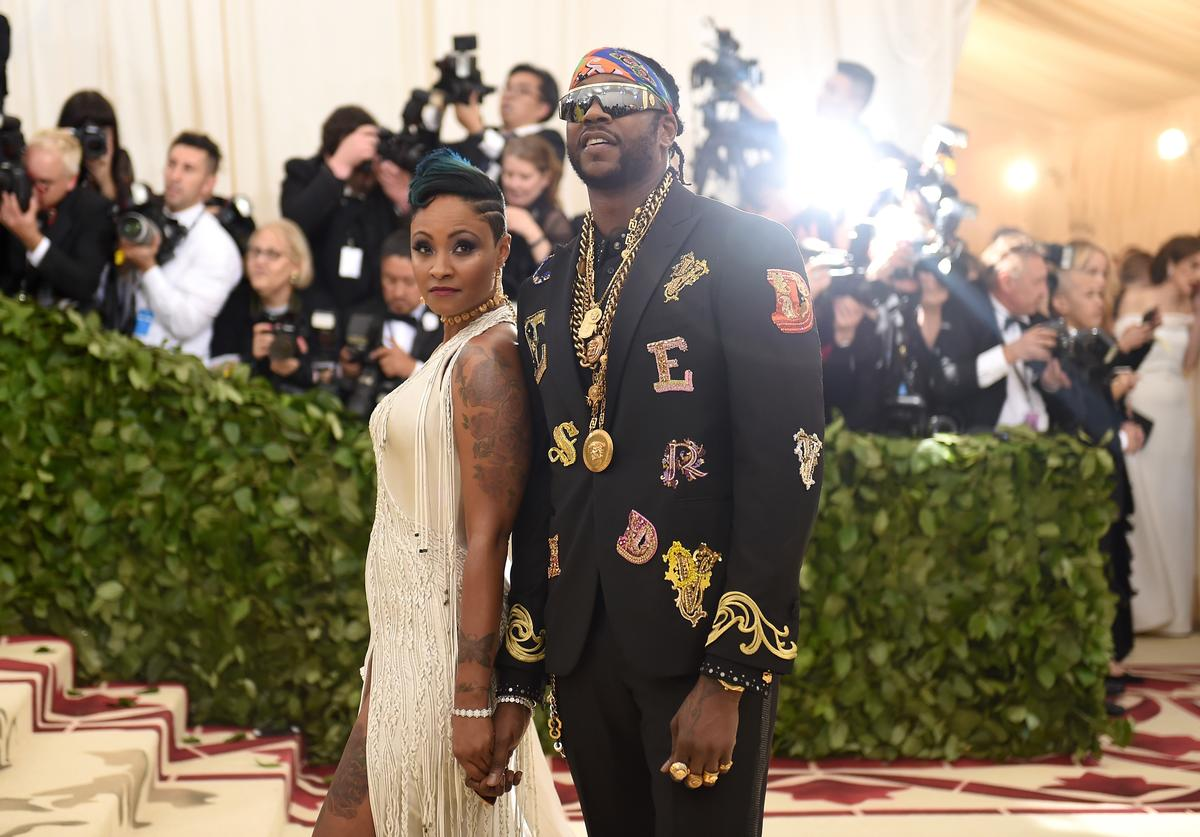 Kesha Ward and 2 Chainz attend the Heavenly Bodies: Fashion & The Catholic Imagination Costume Institute Gala at The Metropolitan Museum of Art on May 7, 2018 in New York City