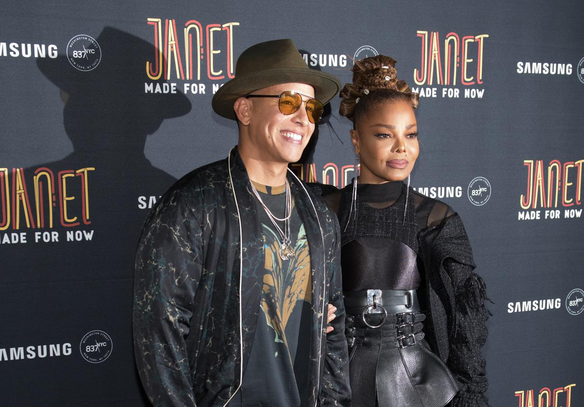 : Daddy Yankee and Janet Jackson attend the 'Made For Now' release party at Samsung 837 on August 17, 2018 in New York City.
