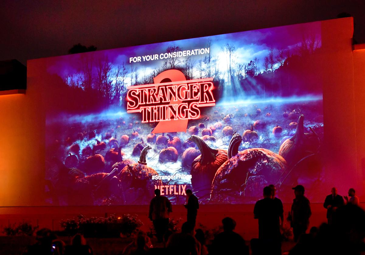 Guests attend Netflix's 'Stranger Things' Celebrates 12 Emmy Nominations at Hollywood Forever on August 17, 2018 in Hollywood, California.
