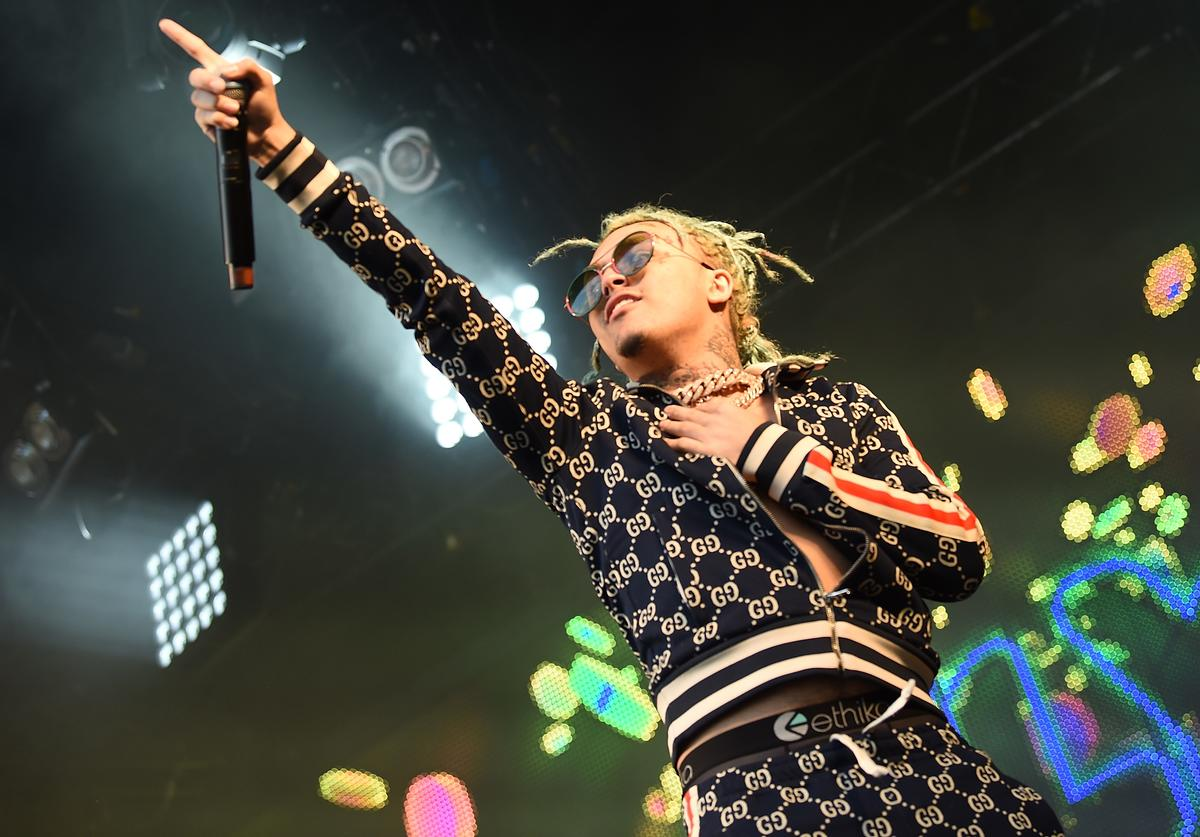 Lil Pump headlines the Pepsi Max stage on Day 3 of Wireless Festival 2018 at Finsbury Park on July 8, 2018 in London, England.