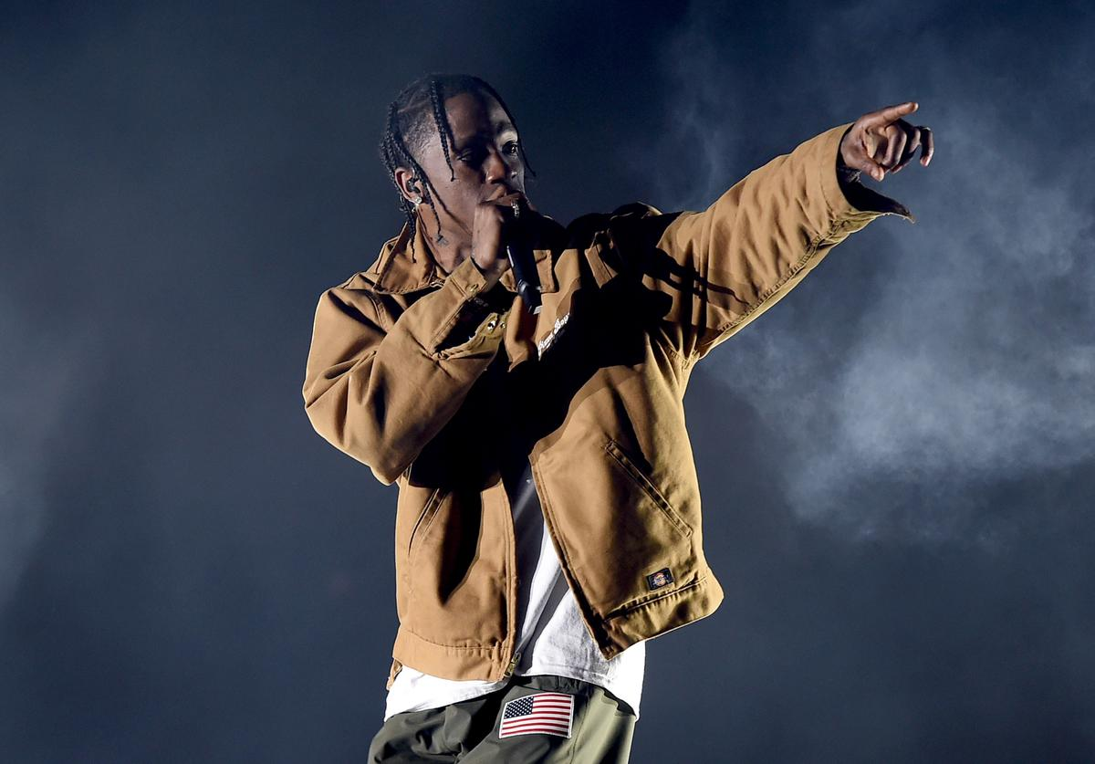 Rapper Travis Scott performs on the Coachella Stage during day 3 of the Coachella Valley Music And Arts Festival (Weekend 1) at the Empire Polo Club on April 16, 2017 in Indio, California.