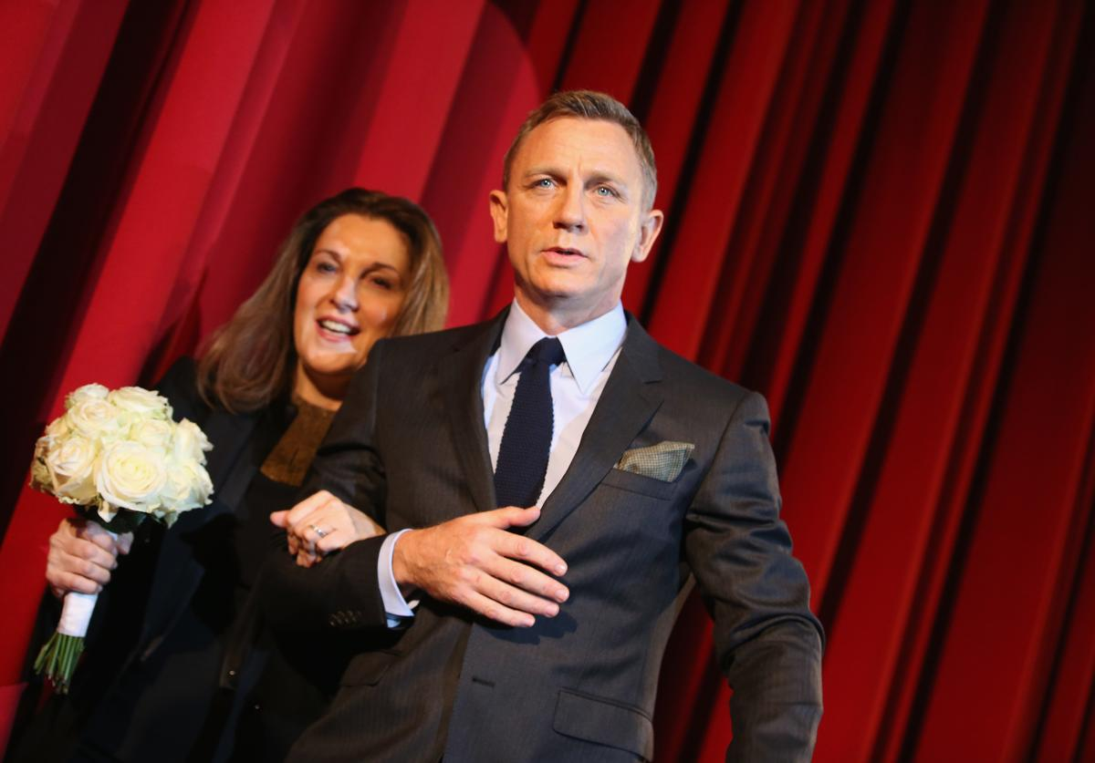 Daniel Craig and Barbara Broccoli attend the German premiere of the new James Bond movie 'Spectre' at CineStar on October 28, 2015 in Berlin, Germany.