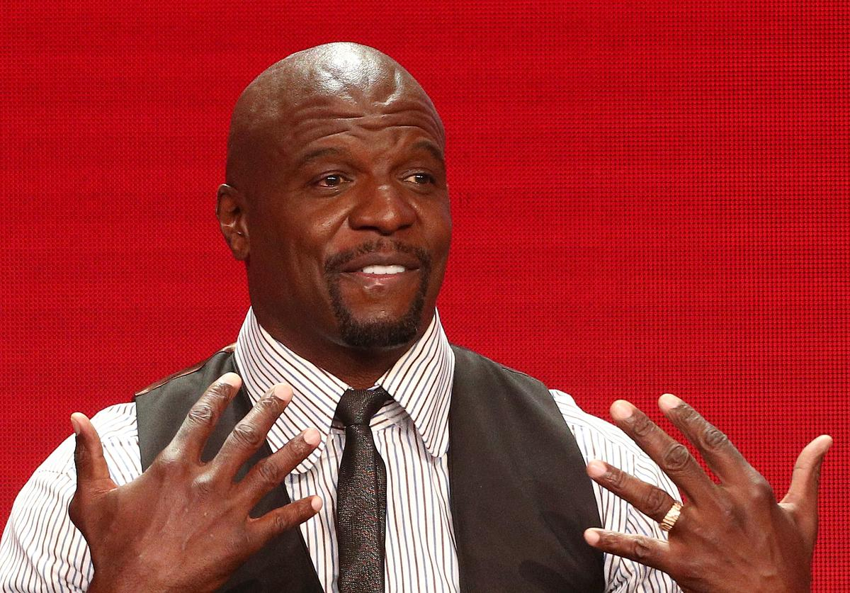 Actor Terry Crews of the television show 'Brooklyn Nine-Nine' speaks during the NBC segment of the Television Critics Association Press Tour at the Beverly Hilton Hotel on August 8, 2018 in Beverly Hills, California.
