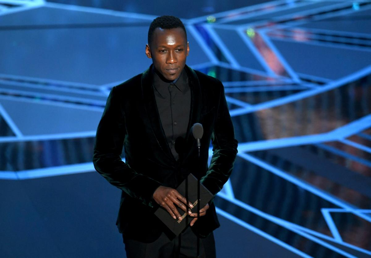 Actor Mahershala Ali speaks onstage during the 90th Annual Academy Awards at the Dolby Theatre at Hollywood & Highland Center on March 4, 2018 in Hollywood, California.