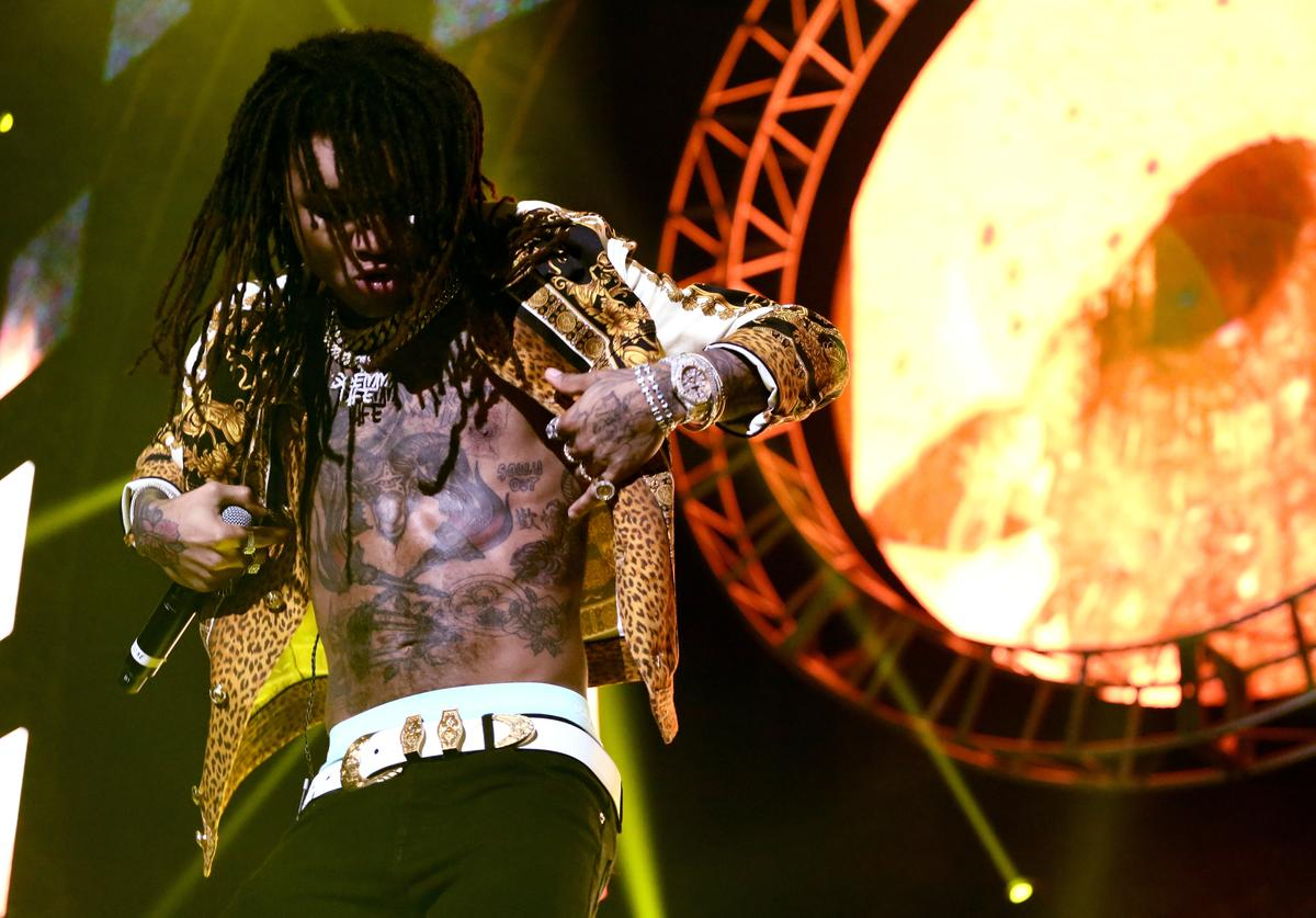 Swae Lee performs onstage at the STAPLES Center Concert Sponsored by SPRITE during the 2018 BET Experience on June 23, 2018 in Los Angeles, California.