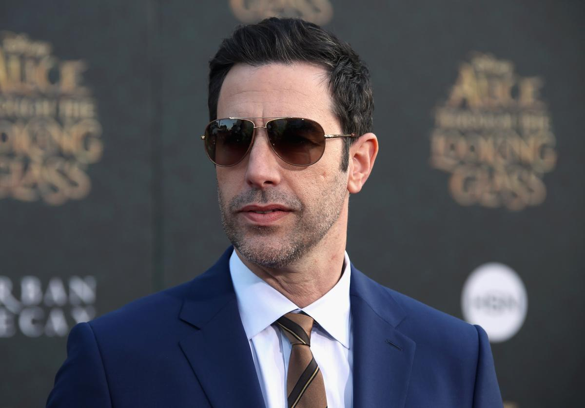 Actor Sacha Baron Cohen attends the premiere of Disney's 'Alice Through The Looking Glass at the El Capitan Theatre on May 23, 2016 in Hollywood, California.