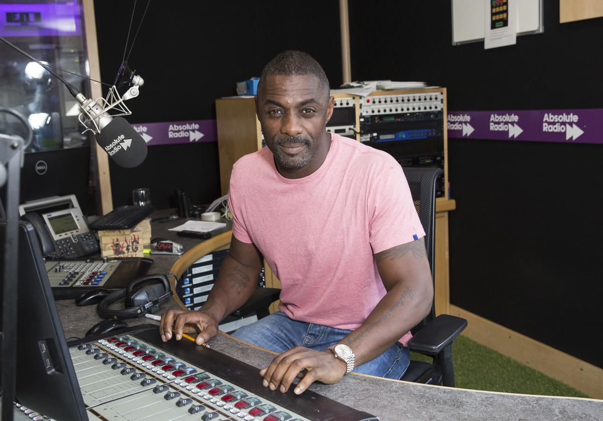 Idris Elba during his visit to Absolute Radio on July 14, 2016 in London, England