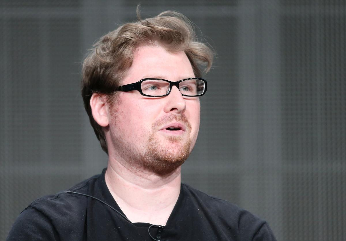 Producer Justin Roiland speaks onstage during the Adult Swim: Rick and Morty panel at the Turner Broadcasting portion of the 2013 Summer Television Critics Association tour at the Beverly Hilton Hotel on July 24, 2013 in Beverly Hills, California.