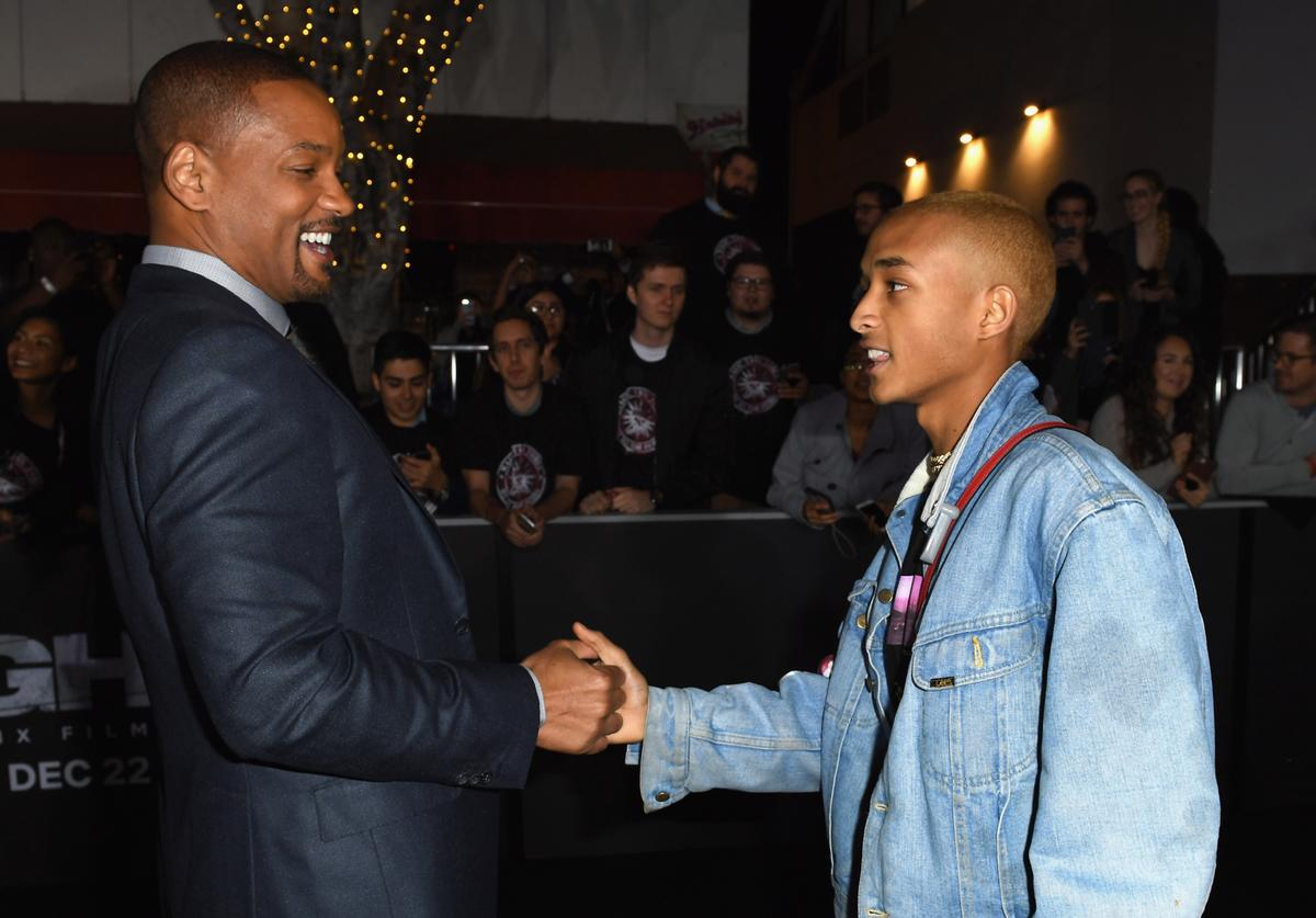 Will Smith and Jaden Smith attend the Premiere Of Netflix's 'Bright' at Regency Village Theatre on December 13, 2017 in Westwood, California.