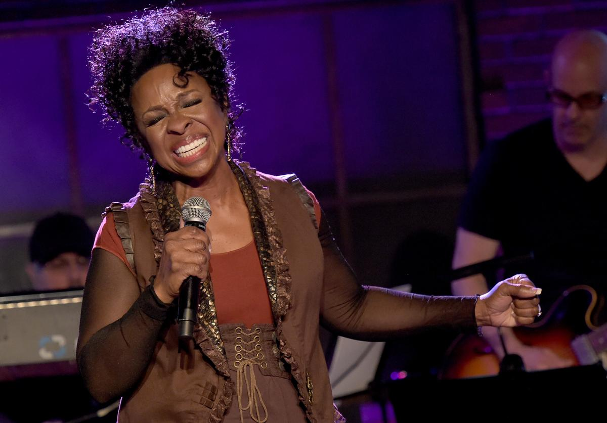 Gladys Knight performs during the 'Skyville Live' Launch Featuring Martina McBride, Gladys Knight And Special Guest Estelle at Skyville Live studios on January 14, 2015 in Nashville, Tennessee