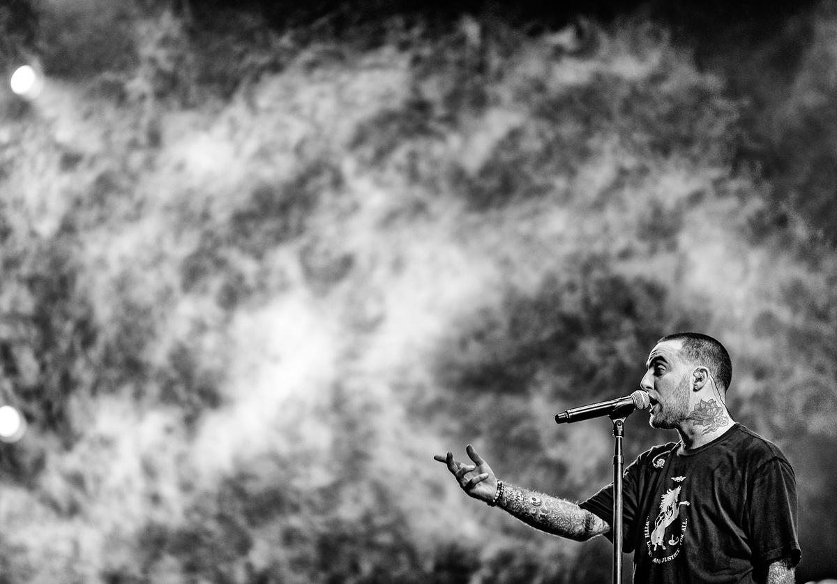 Mac Miller performs onstage at the Sahara tent during day 1 of the Coachella Valley Music And Arts Festival (Weekend 1) at the Empire Polo Club on April 14, 2017 in Indio, California.