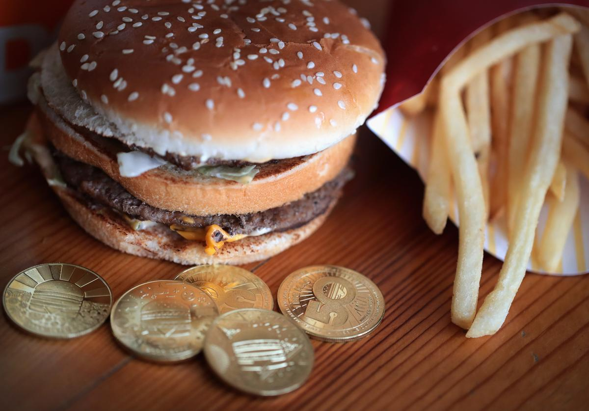 McDonald's MacCoins are shown on August 1, 2018 in Chicago, Illinois