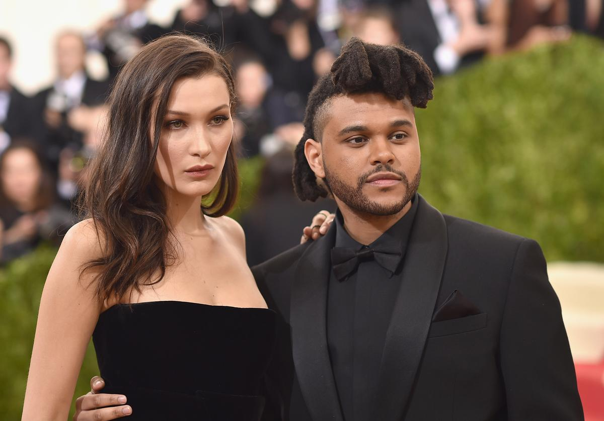 Bella Hadid and The Weeknd attend the 'Manus x Machina: Fashion In An Age Of Technology' Costume Institute Gala at Metropolitan Museum of Art on May 2, 2016 in New York City.