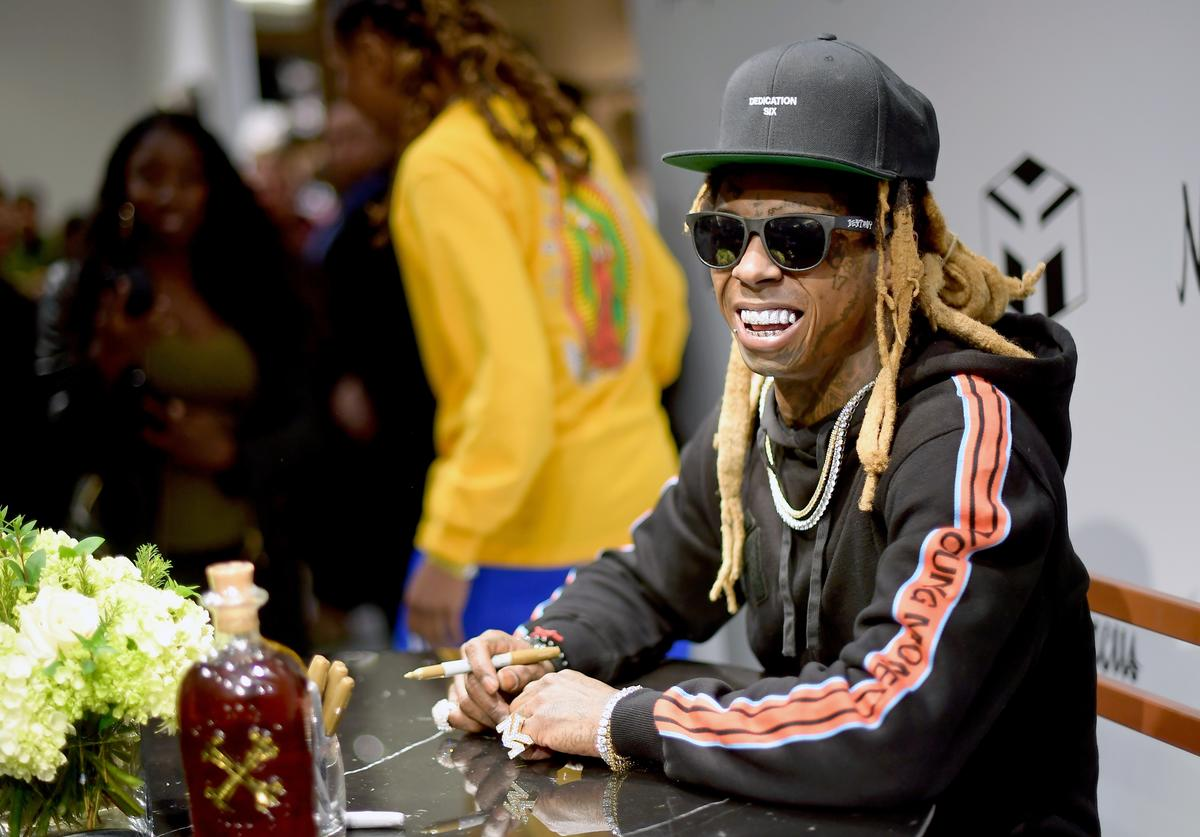 Recording artist Lil Wayne attends Neiman Marcus x Young Money Launch at Neiman Marcus Beverly Hills on February 16, 2018 in Beverly Hills, California.