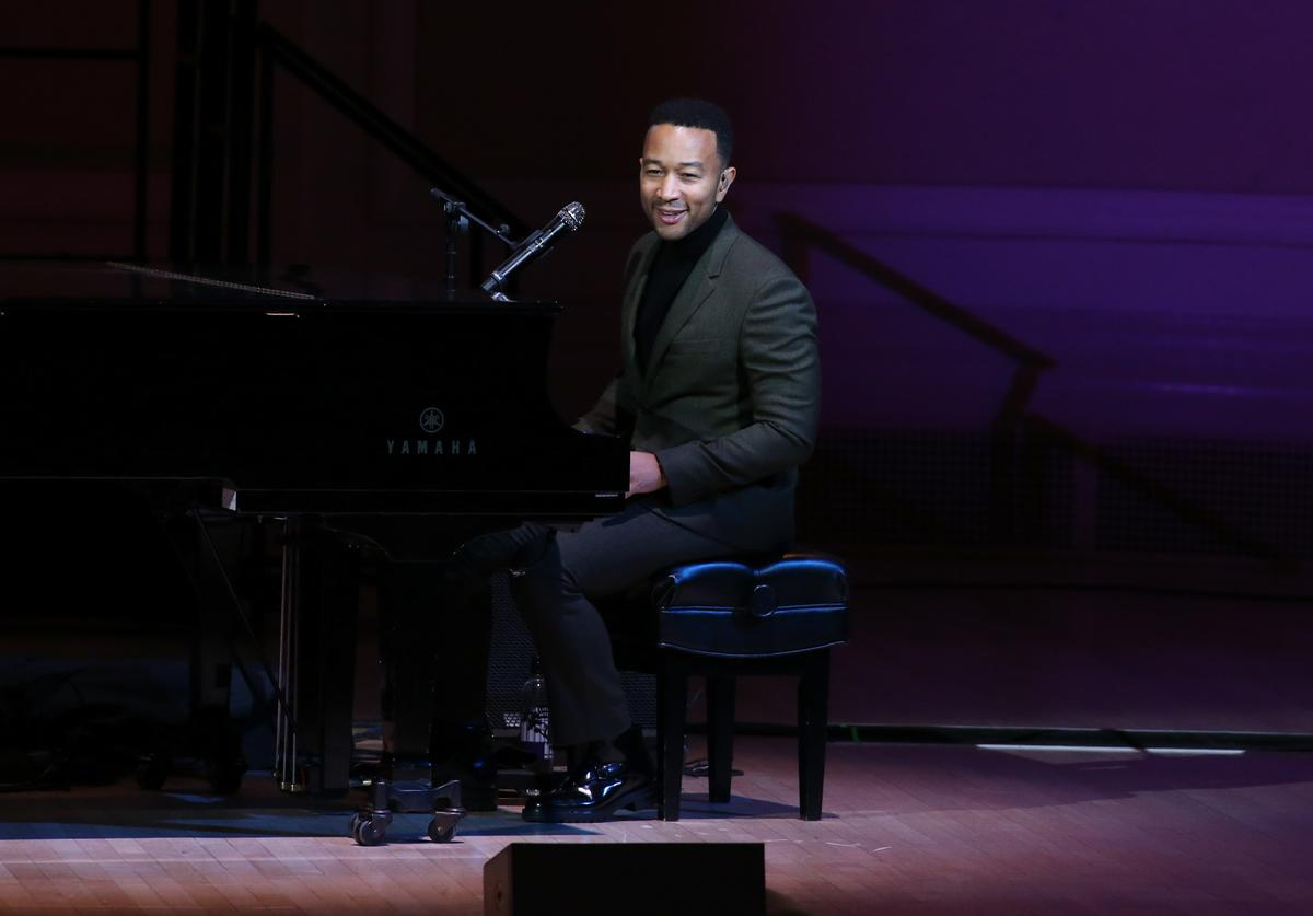 John Legend performs onstage during the 2018 GOOD+ Foundation's Evening of Comedy + Music Benefit, presented by Samsung Electronics America at Carnegie Hall on September 12, 2018 in New York City.
