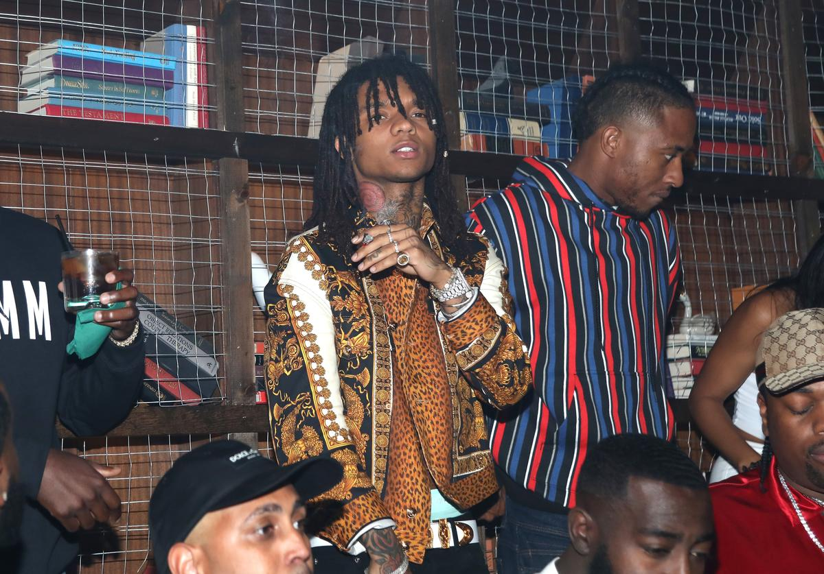 Swae Lee and Plies speak at IGA X BET Awards Party 2018 on June 23, 2018 in Los Angeles, California