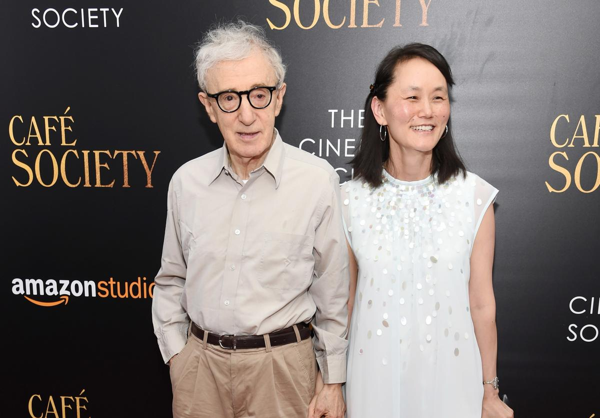 Woody Allen and Soon-Yi Previn attend the premiere of 'Cafe Society' hosted by Amazon & Lionsgate with The Cinema Society at Paris Theatre on July 13, 2016 in New York City.