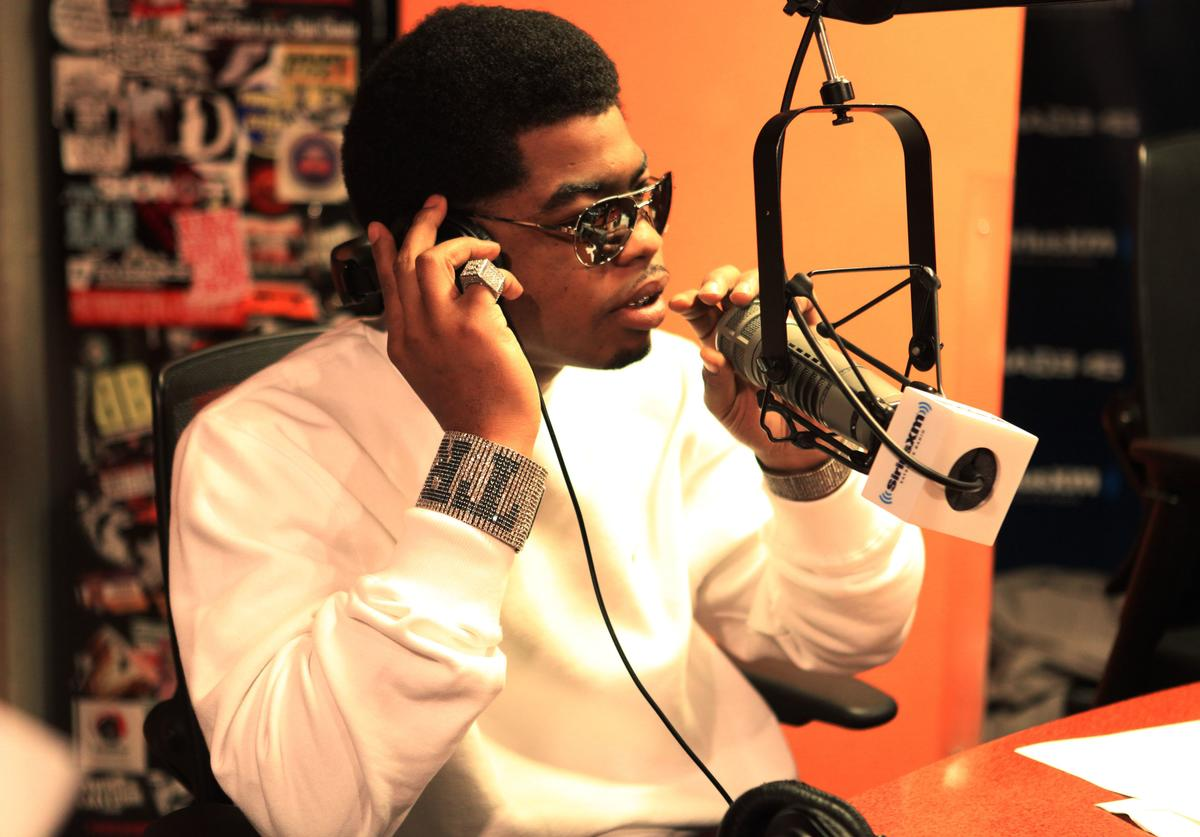 Rapper Webbie invades The Whoolywood Shuffle at SiriusXM Studio on October 16, 2011 in New York City.