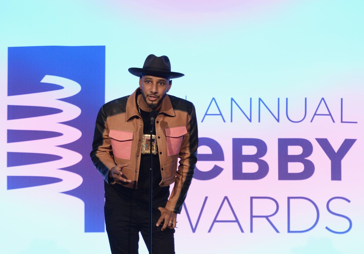 Swizz Beatz onstage at The 22nd Annual Webby Awards at Cipriani Wall Street on May 14, 2018 in New York City