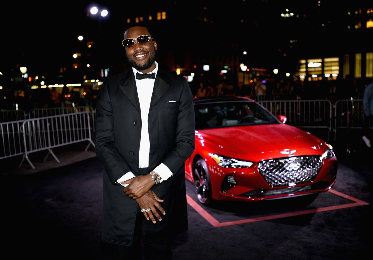 Meek Mill as Harper's BAZAAR Celebrates 'ICONS By Carine Roitfeld' at the Plaza Hotel on September 7, 2018 in New York City.