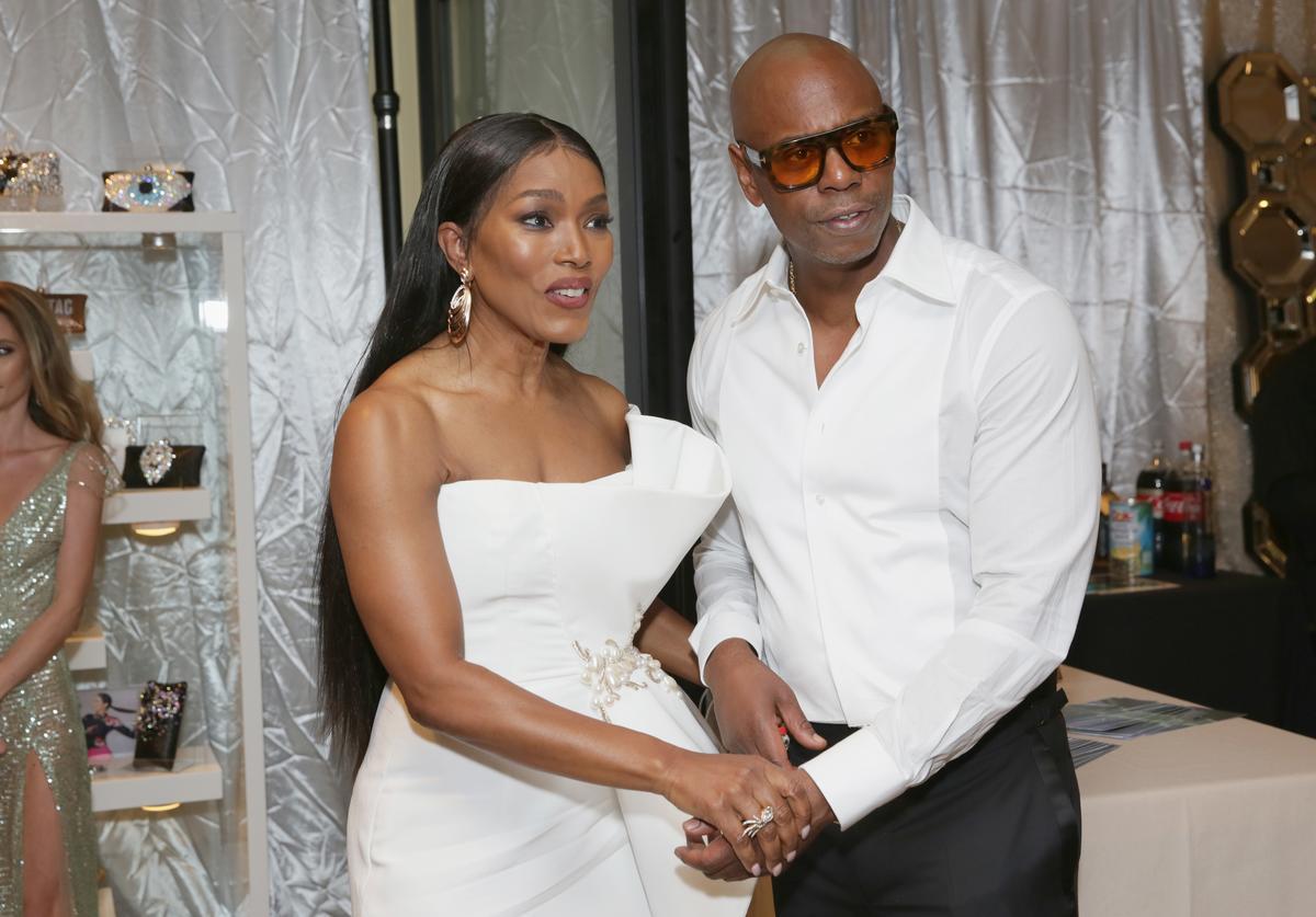 Angela Bassett and Dave Chappelle attend Backstage Creations Giving Suite At The 70th Emmy Awards at Microsoft Theater on September 17, 2018 in Los Angeles, California