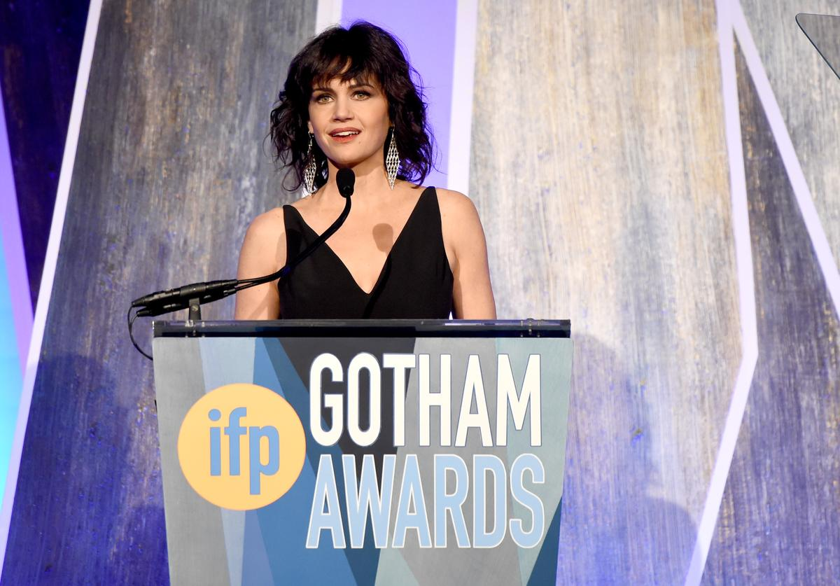 Carla Gugino speaks onstage during IFP's 27th Annual Gotham Independent Film Awards on November 27, 2017 in New York City.