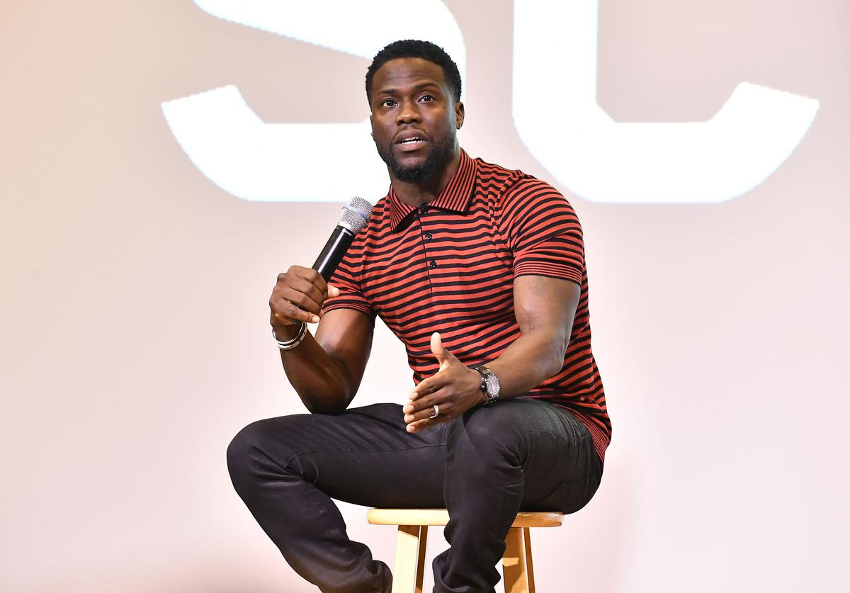 Kevin Hart attends Morehouse College REAL TALK with 'Night School' actor Kevin Hart & producer Will Packer at Morehouse College on September 11, 2018 in Atlanta, Georgia.