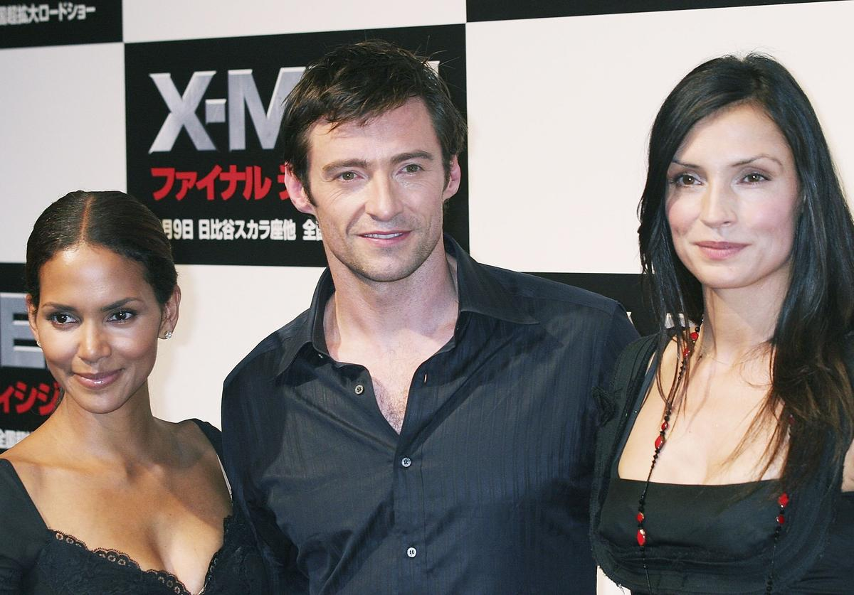 Halle Berry, Hugh Jackman and Famke Janssen attend a press conference for the premiere of the movie 'X-Men: The Last Stand' on July 13, 2006 in Tokyo, Japan. The film will open in Japan in September.