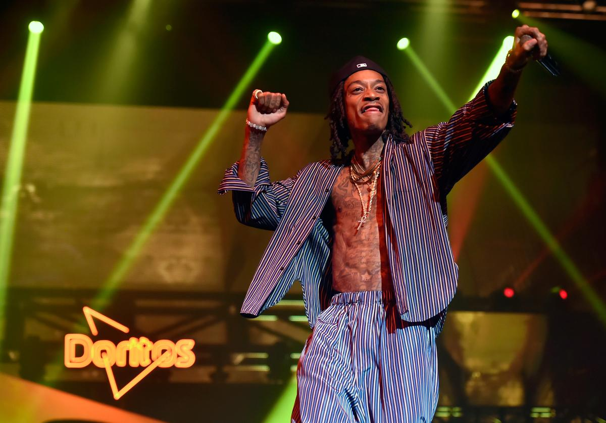Rapper Wiz Khalifa performs during the Doritos Blaze The Beat competition at the The Foundry at SLS Las Vegas on September 20, 2018 in Las Vegas, Nevada.