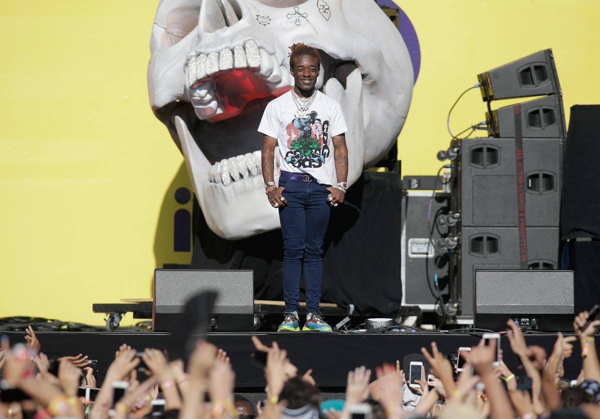 Lil Uzi Vert performs onstage during the 2018 iHeartRadio Music Festival Daytime Stage at the Las Vegas Festival Grounds on September 22, 2018 in Las Vegas, Nevada
