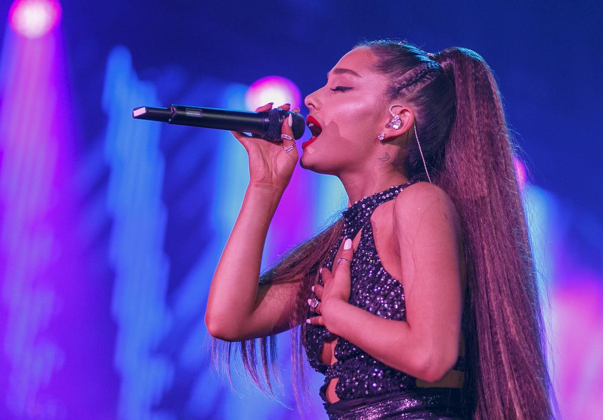 Ariana Grande performs onstage during the 2018 iHeartRadio Wango Tango by AT&T at Banc of California Stadium on June 2, 2018 in Los Angeles, California