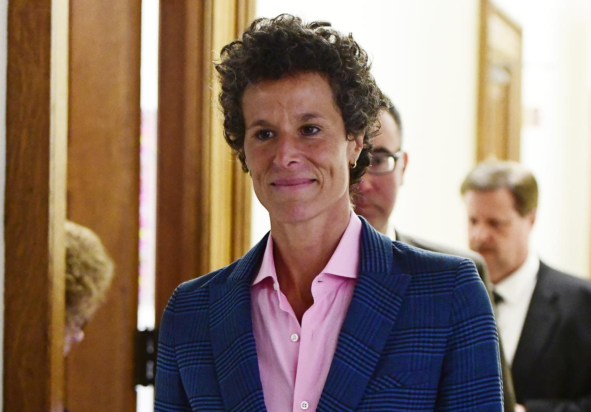Andrea Constand, main accuser in the Bill Cosby trial, leaves courtroom A after testifying in the Bill Cosby sexual assault trial at the Montgomery County Courthouse, on April 25, 2018, in Norristown, Pennsylvania.