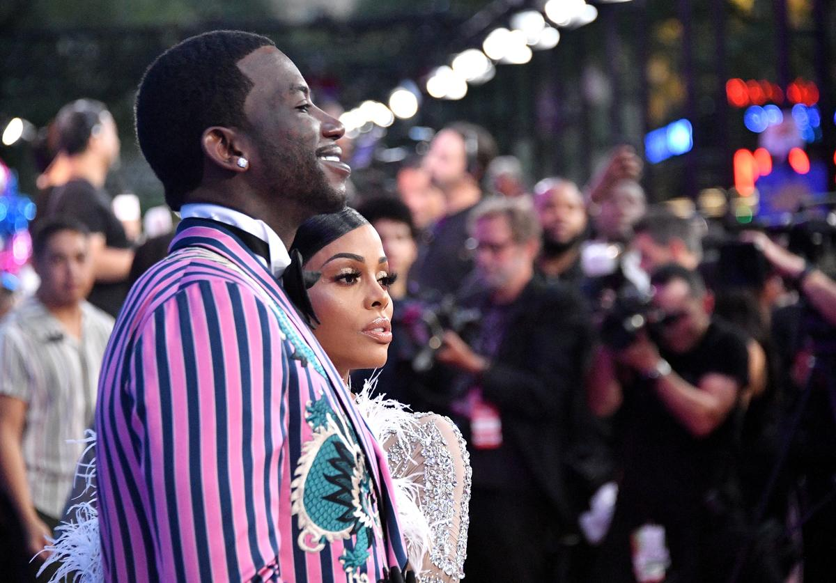 Gucci Mane and Keyshia Ka'Oir attends the 2018 MTV Video Music Awards at Radio City Music Hall on August 20, 2018 in New York City