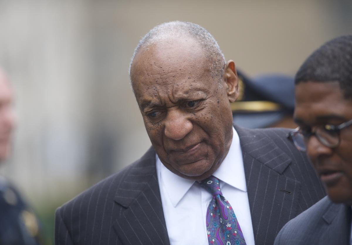 Bill Cosby departs the Montgomery County Courthouse after the first day of his sexual assault retrial on April 9, 2018 in Norristown, Pennsylvania. A former Temple University employee alleges that the entertainer drugged and molested her in 2004 at his home in suburban Philadelphia. More than 40 women have accused the 80 year old entertainer of sexual assault.