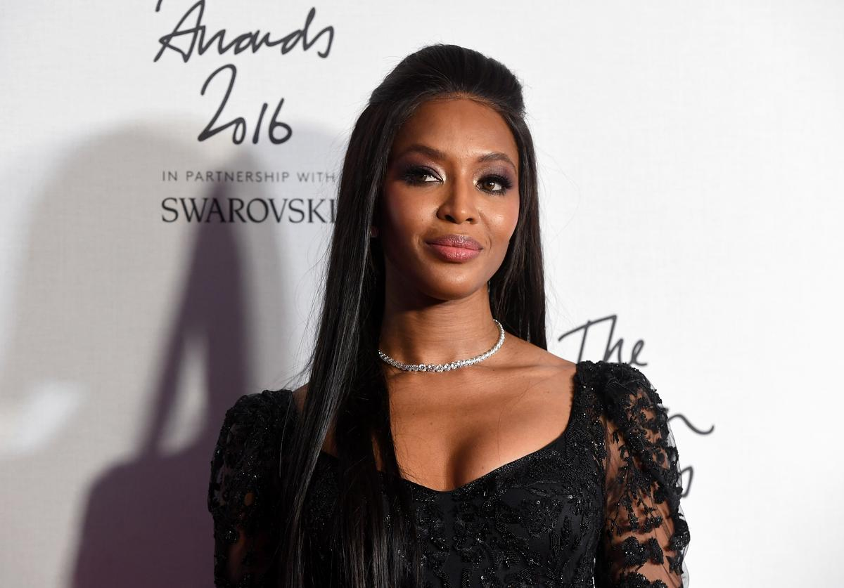 Naomi Campbell poses in the winners room at The Fashion Awards 2016 at Royal Albert Hall on December 5, 2016 in London, England