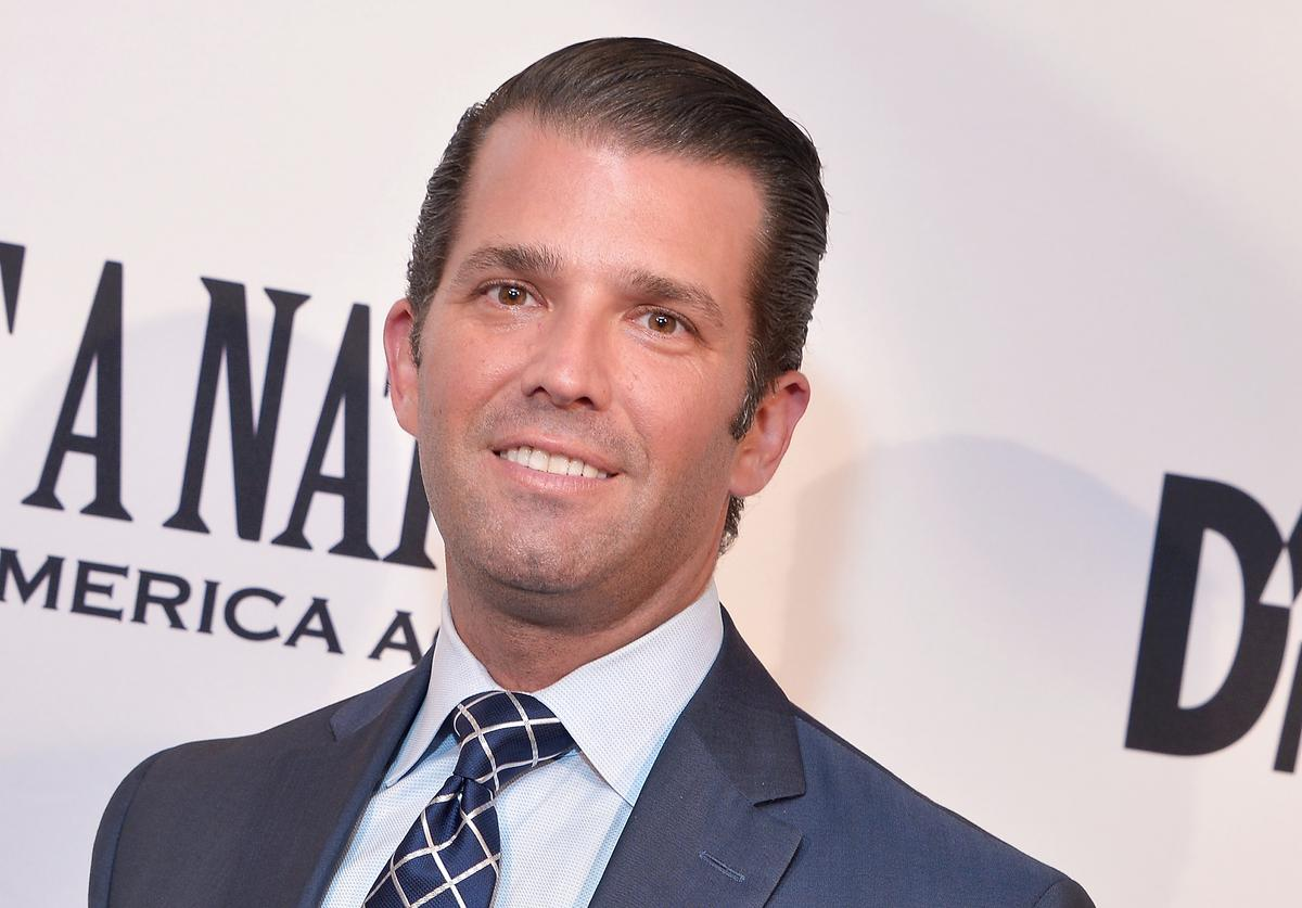 Donald Trump, Jr. attends the DC premiere of the film, 'Death of a Nation,' at E Street Cinema on August 1, 2018 in Washington, DC.