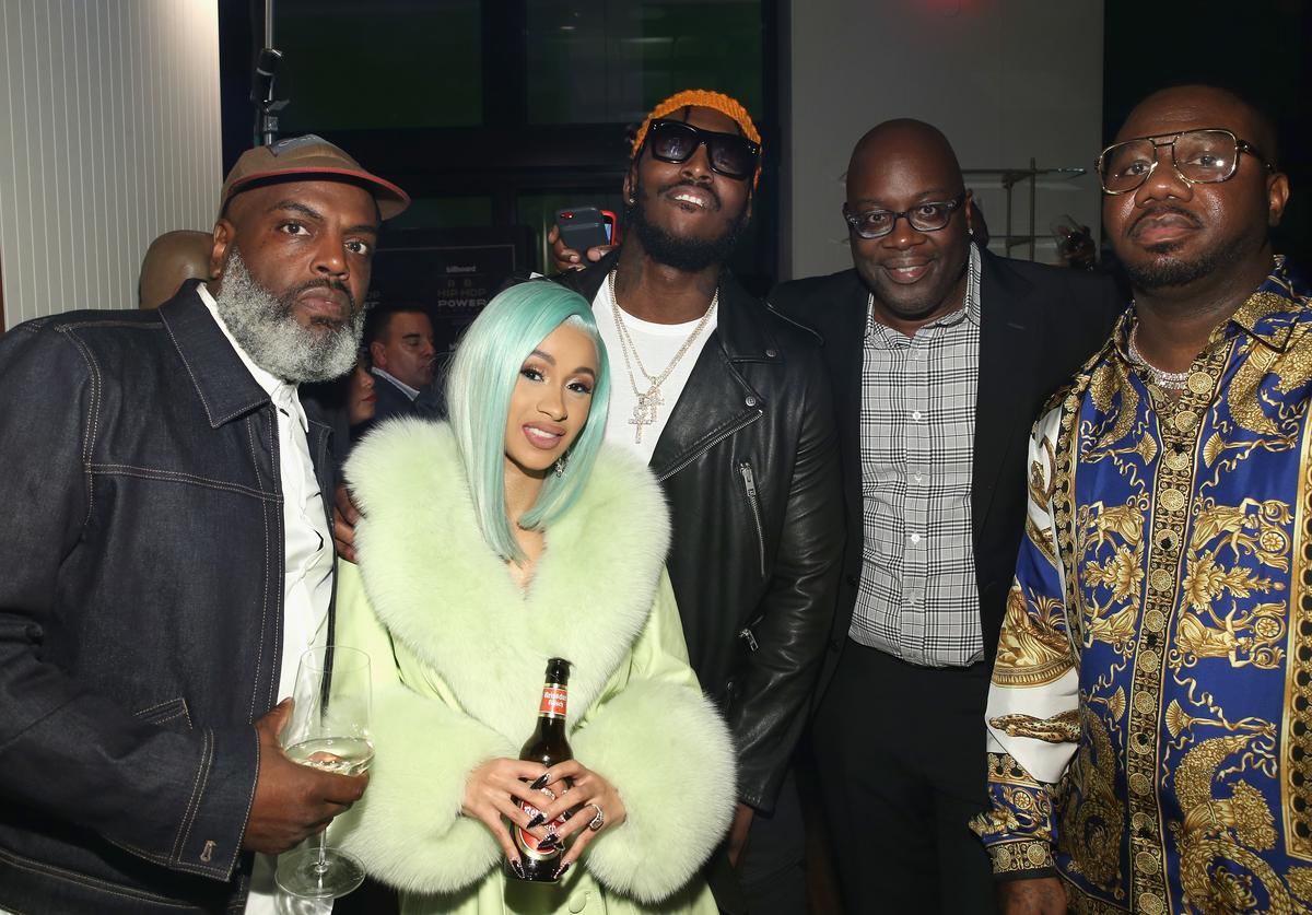 """: Kevin Coach K Lee, Cardi B, Pardison Fontaine, Michael Kyser and Quality Control's Pierre """"Pee"""" Thomas"""