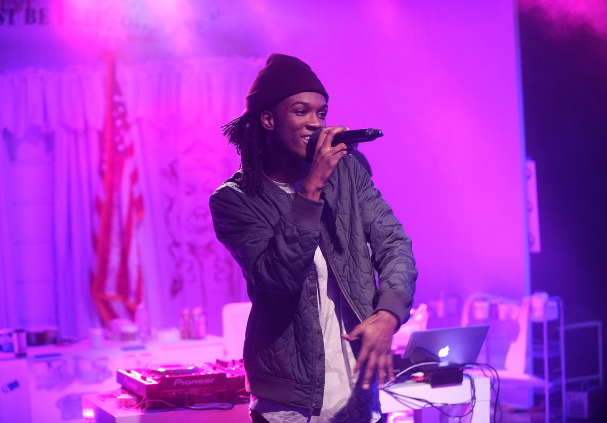 Saba performs during MTV News Election Night: 'The People's Playhouse' at MTV Studios on November 8, 2016 in New York City