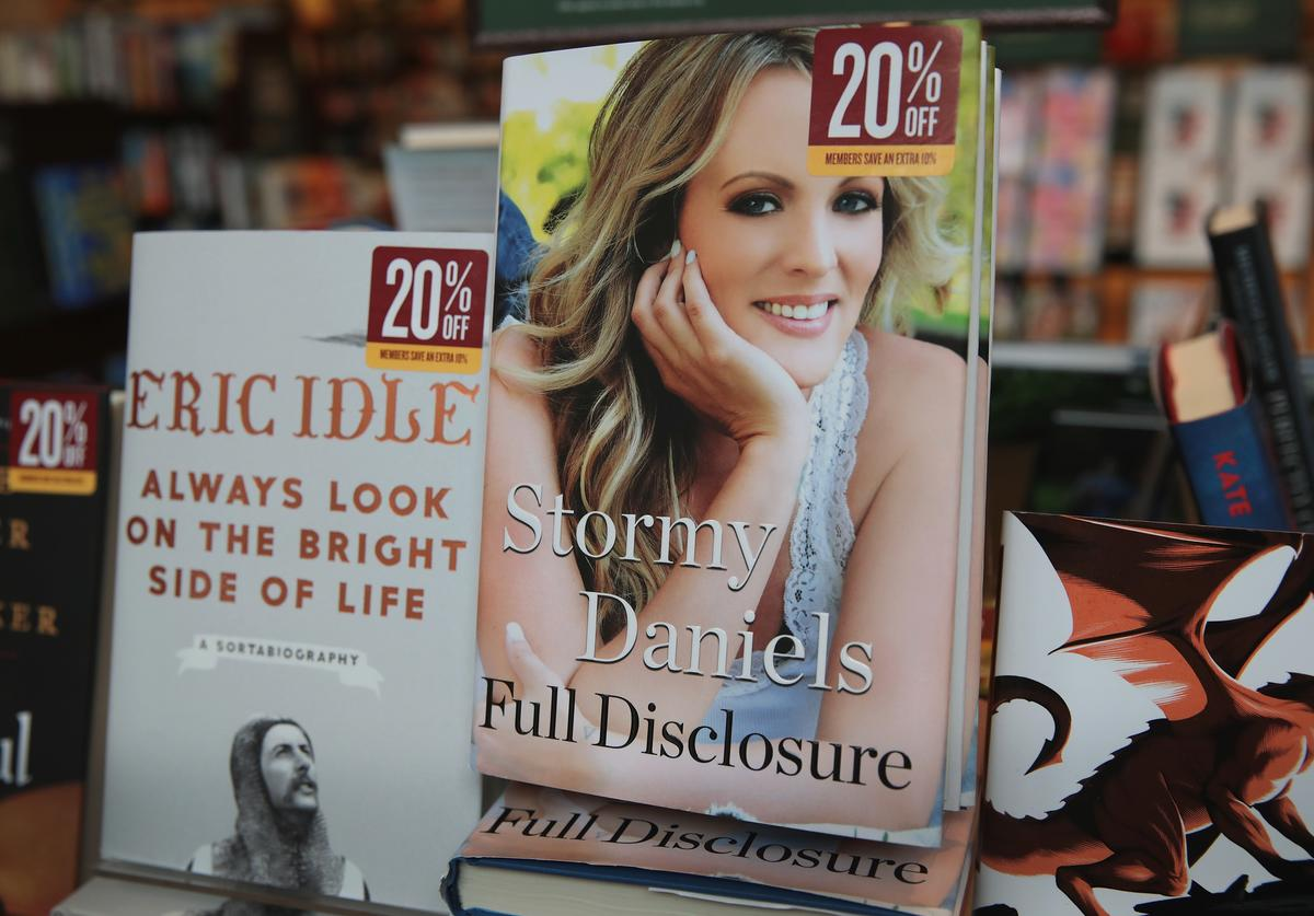 Full Disclosure, a memoir by adult film star Stormy Daniels, is offered for sale at a Barnes & Noble store on October 2, 2018 in Chicago Illinois. In the book, which went on sale today, Daniels describes her alleged affair with Donald Trump before he was elected president and aspects of her life before and after the tryst.