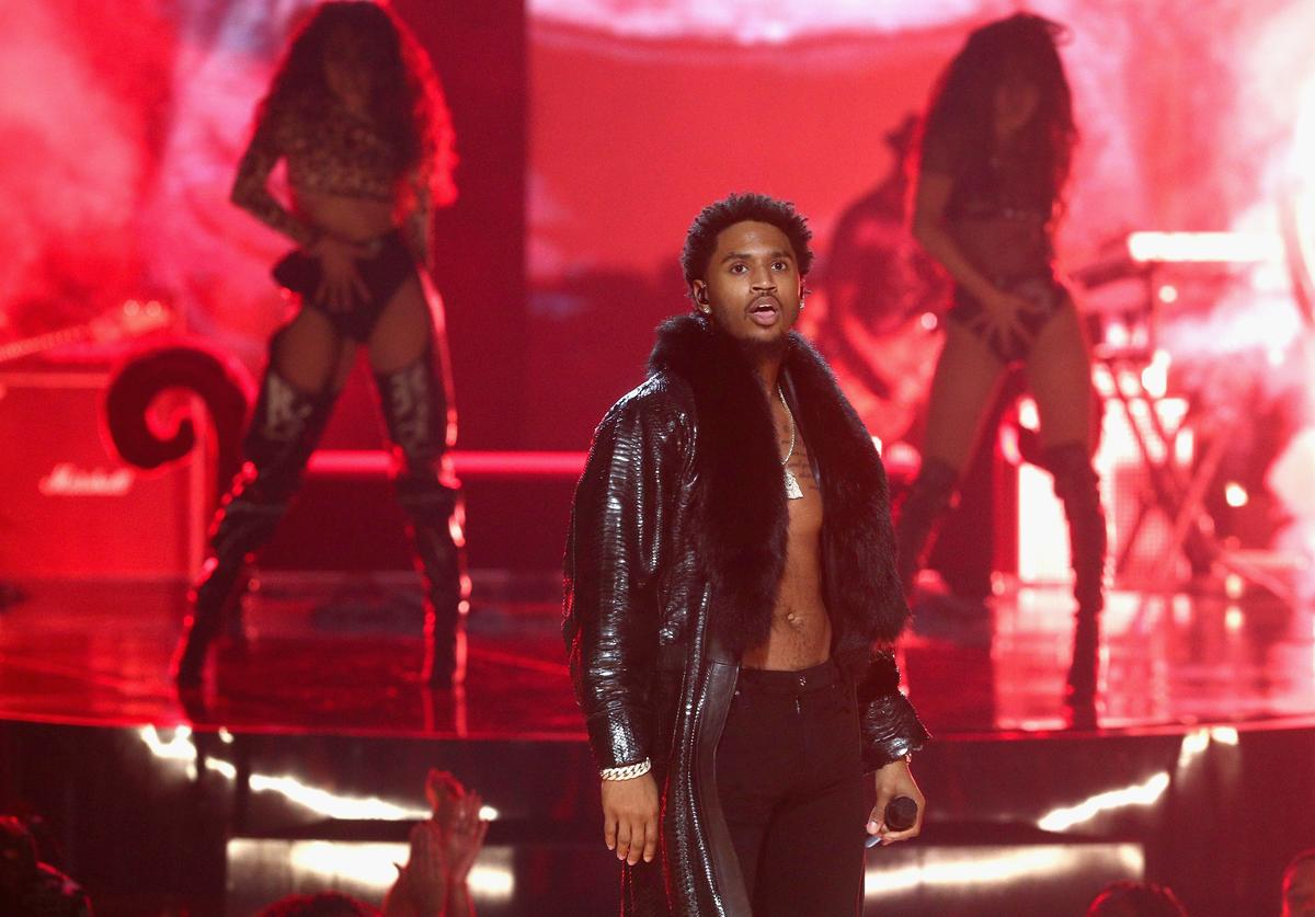 Trey Songz performs onstage at 2017 BET Awards at Microsoft Theater on June 25, 2017 in Los Angeles, California.