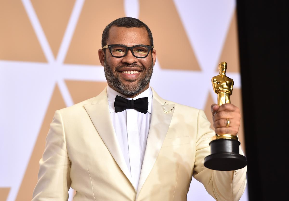 Writer Jordan Peele, winner of the Best Original Screenplay award for 'Get Out,' poses in the press room during the 90th Annual Academy Awards at Hollywood & Highland Center on March 4, 2018 in Hollywood, California.