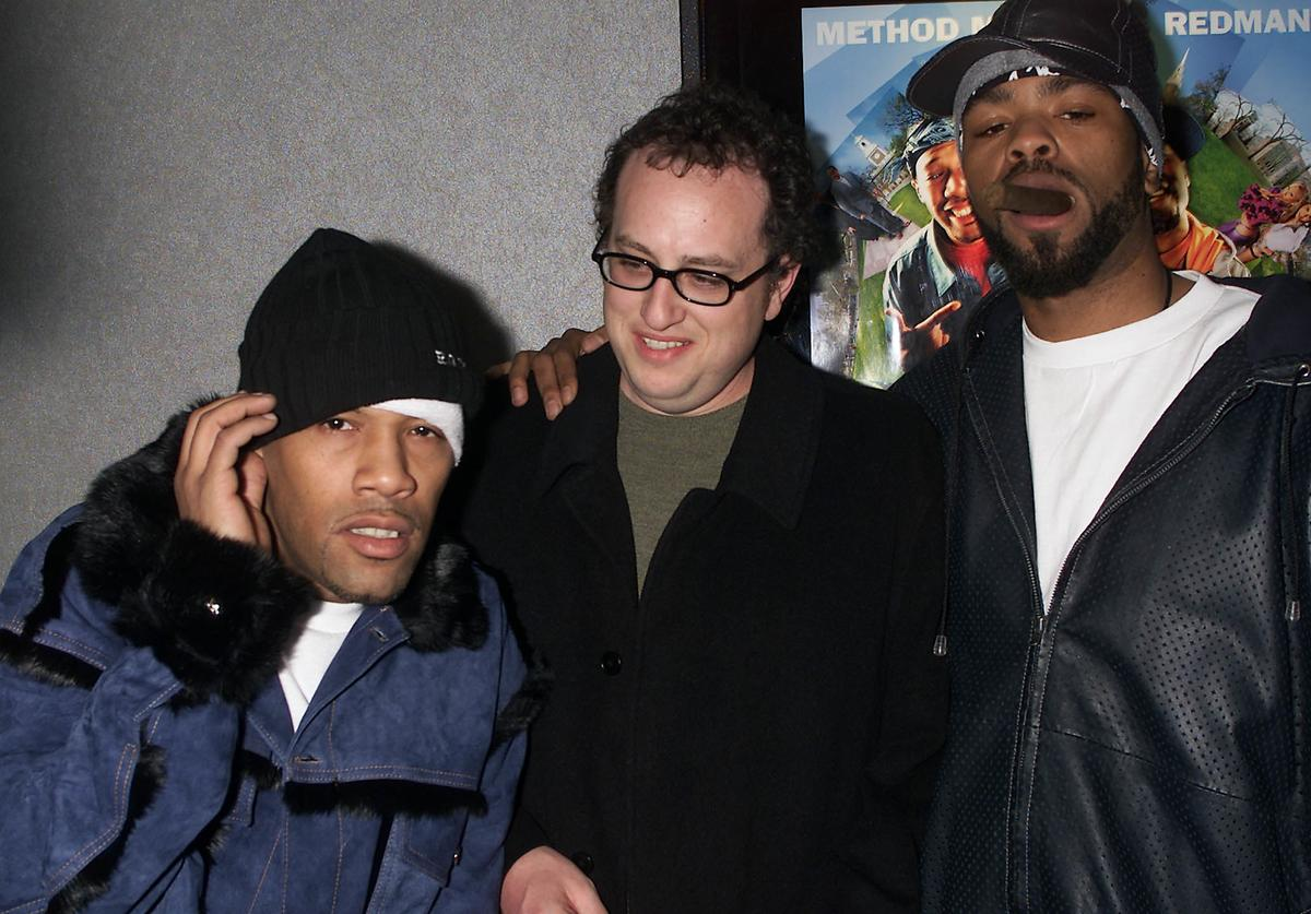 Redman, director Jesse Dylan, and Method Man arrive at the premiere of 'How High' at the UA Union Square Theaters in New York City