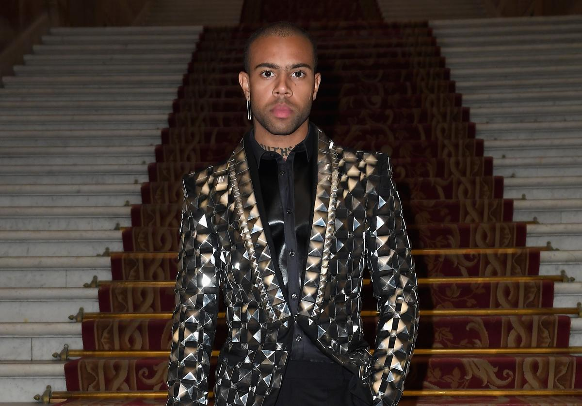 Vic Mensa attends the Balmain show as part of the Paris Fashion Week Womenswear Spring/Summer 2019 on September 28, 2018 in Paris, France