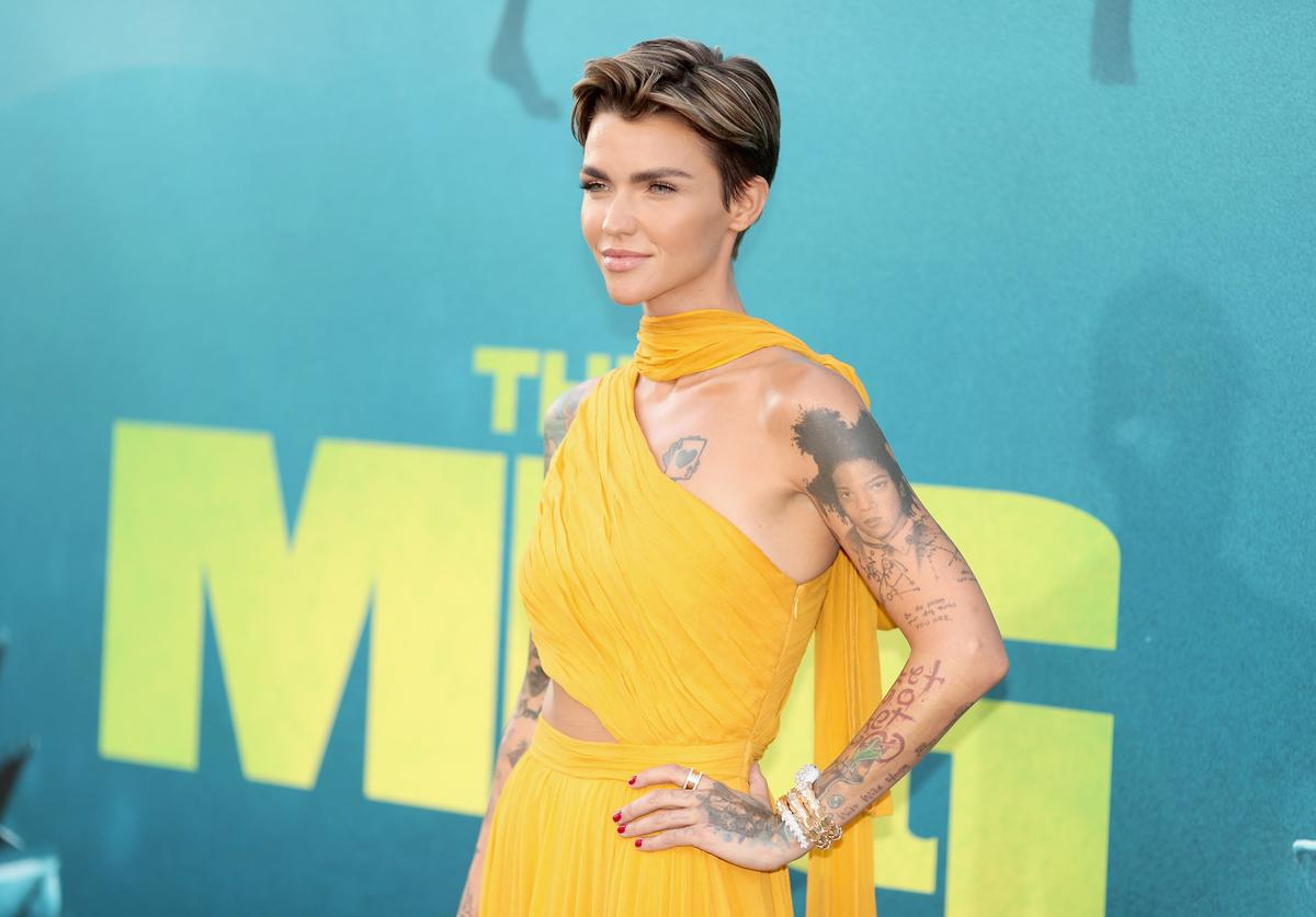 Ruby Rose attends Warner Bros. Pictures And Gravity Pictures' Premiere of 'The Meg' at TCL Chinese Theatre IMAX on August 6, 2018 in Hollywood, California.