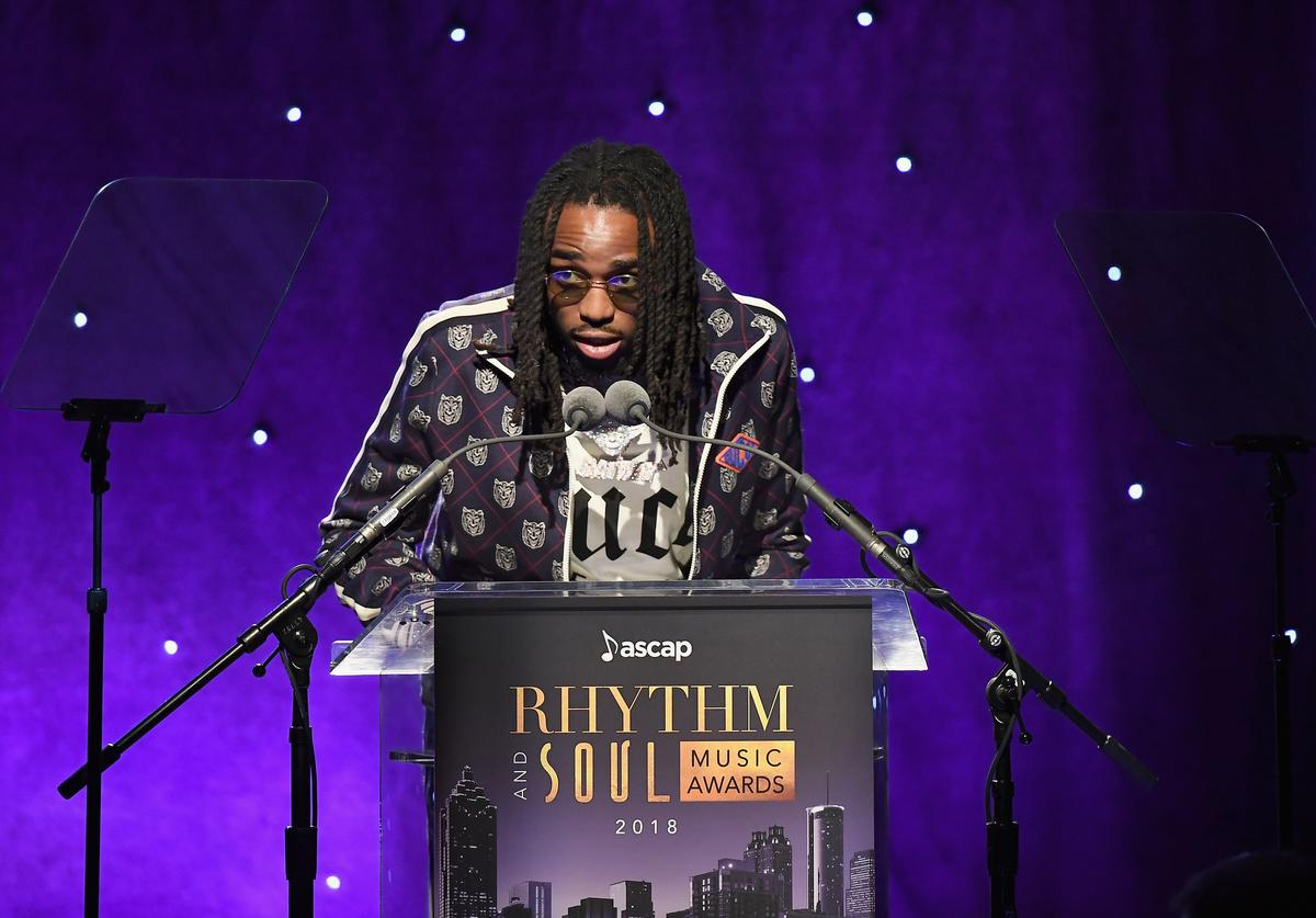 Quavo of Migos speaks onstage at the 31st Annual ASCAP Rhythm & Soul Music Awards at the Beverly Wilshire Four Seasons Hotel on June 21, 2018 in Beverly Hills, California