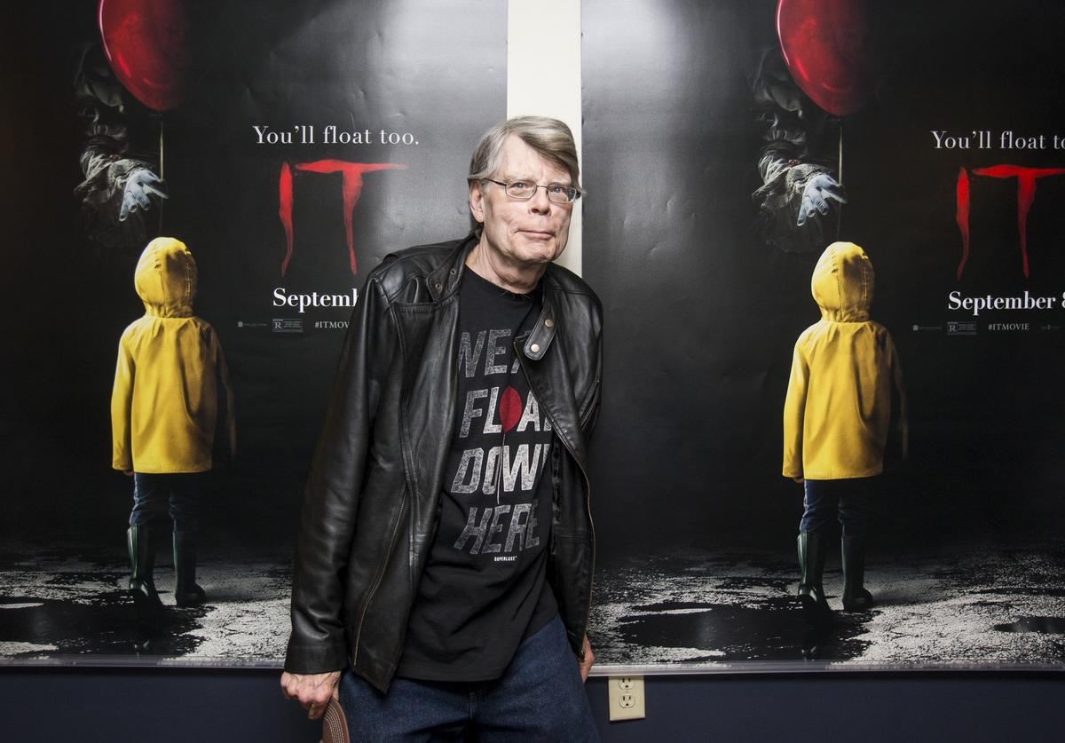Stephen King attends a special screening of 'IT' at Bangor Mall Cinemas 10 on September 6, 2017 in Bangor, Maine